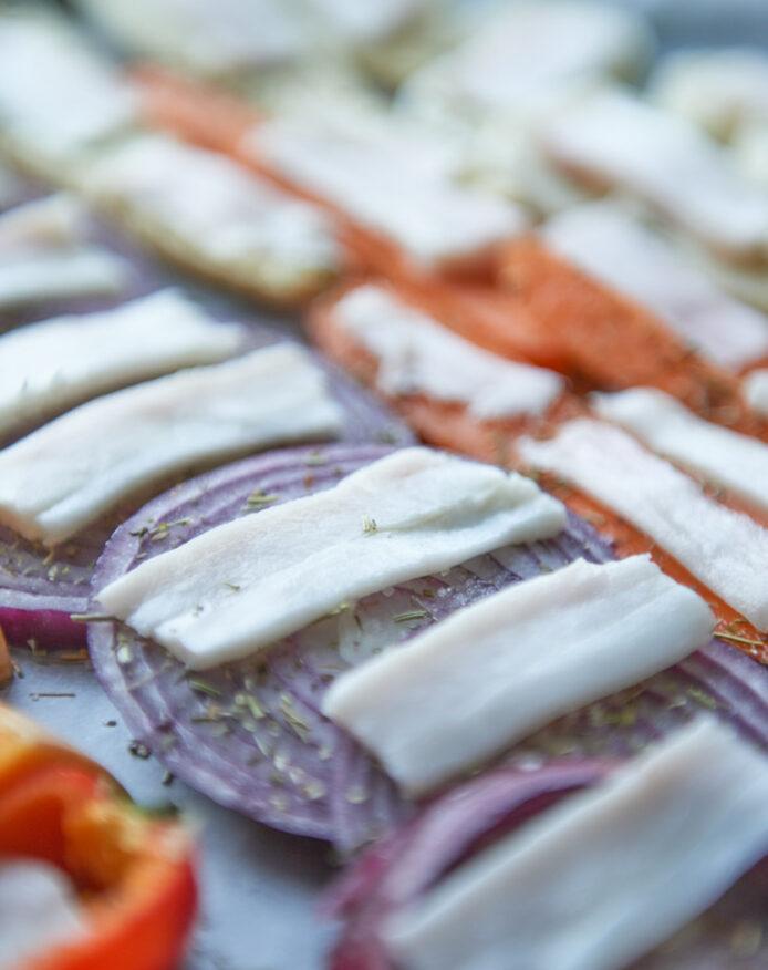 Légumes rôtis lard salé porc noir de Bigorre AOP Herbae