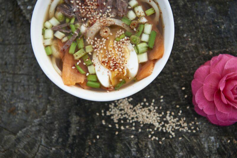 Ramen japonais au bouillon porc noir de Bigorre AOP Herbae