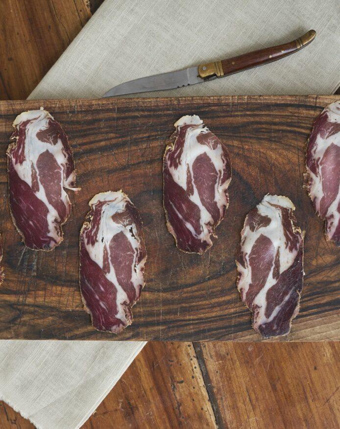 Coppa porc noir de Bigorre AOP au poivre de Cubèbe