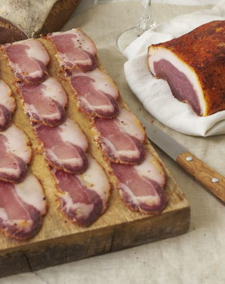 Lomo de porc noir de Bigorre AOP au piment d'Espelette Affinage 4 mois