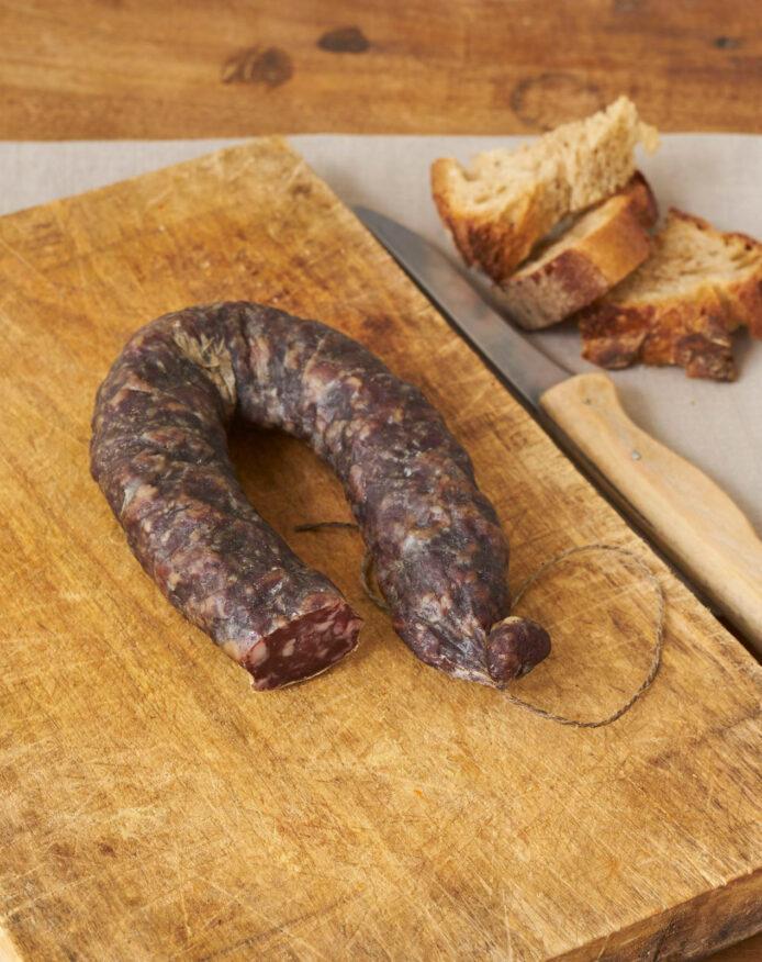 Saucisse sèche porc noir de Bigorre AOP Herbae Salaisons