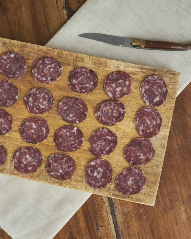 Saucisson Herbae porc noir de Bigorre AOP naturel 54 jours affinage