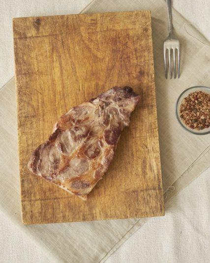 Côtes échine porc noir de Bigorre AOP Herbae